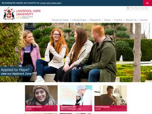Liverpool Hope University's Website Screenshot