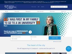 Liverpool John Moores University's Website Screenshot