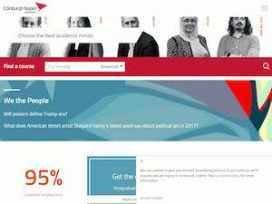 Edinburgh Napier University's Website Screenshot
