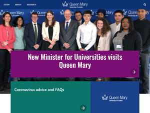 Queen Mary University of London Screenshot