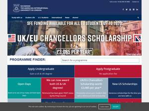 Richmond, The American International University in London's Website Screenshot