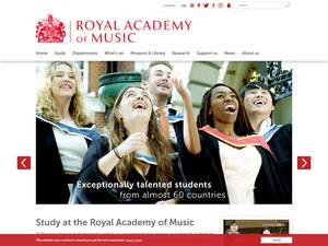 Royal Academy of Music, University of London's Website Screenshot