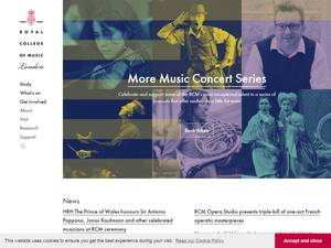 Royal College of Music's Website Screenshot