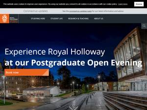 Royal Holloway, University of London Screenshot
