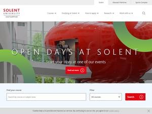Southampton Solent University's Website Screenshot