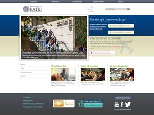 University of Bath's Website Screenshot