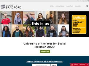 University of Bradford Screenshot
