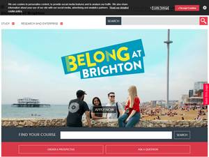 University of Brighton Screenshot