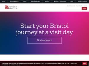 University of Bristol's Website Screenshot