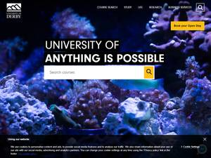 University of Derby's Website Screenshot