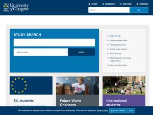 University of Glasgow's Website Screenshot