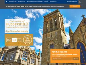 University of Huddersfield's Website Screenshot