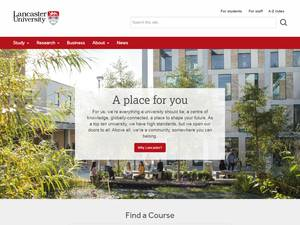 Lancaster University's Website Screenshot