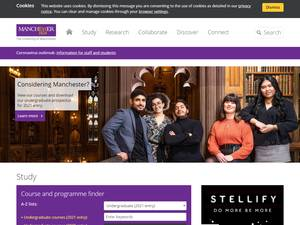 The University of Manchester's Website Screenshot