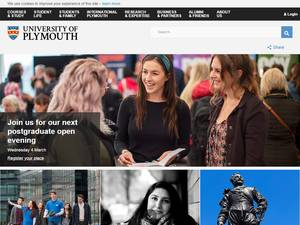 University of Plymouth's Website Screenshot