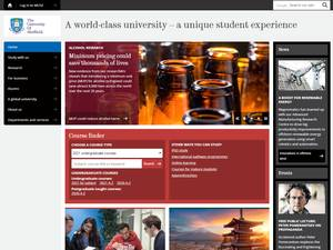 The University of Sheffield's Website Screenshot
