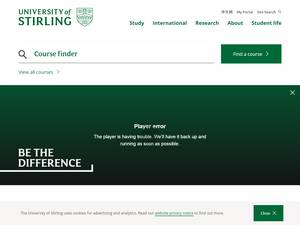 University of Stirling's Website Screenshot