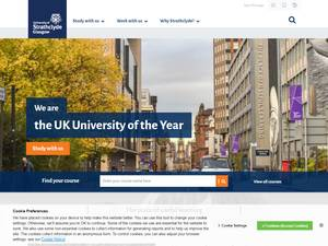University of Strathclyde's Website Screenshot