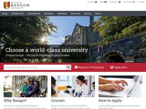 Bangor University's Website Screenshot
