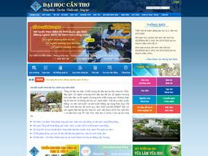 Can Tho University's Website Screenshot