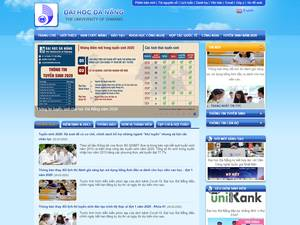 The University of Da nang's Website Screenshot