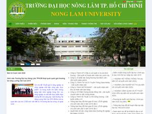 Ho Chi Minh City University of Agriculture and Forestry's Website Screenshot