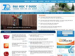 The University of Medicine and Pharmacy at Ho Chi Minh City's Website Screenshot