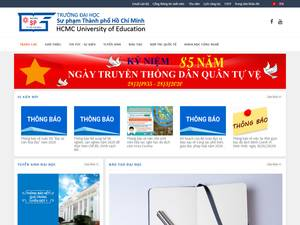 Ho Chi Minh City University of Pedagogy's Website Screenshot