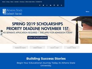 Athens State University's Website Screenshot