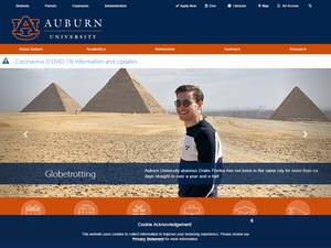 Auburn University's Website Screenshot