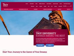Troy University's Website Screenshot