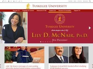 Tuskegee University's Website Screenshot