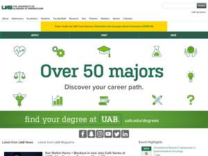 University of Alabama at Birmingham's Website Screenshot