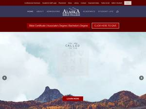 Alaska Bible College's Website Screenshot
