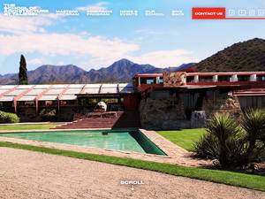The School of Architecture at Taliesin's Website Screenshot