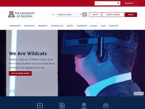 The University of Arizona Screenshot
