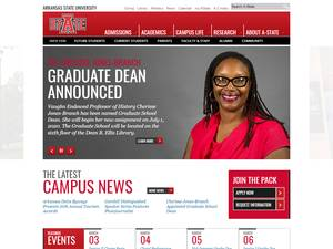 Arkansas State University's Website Screenshot