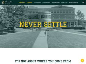 Arkansas Tech University's Website Screenshot