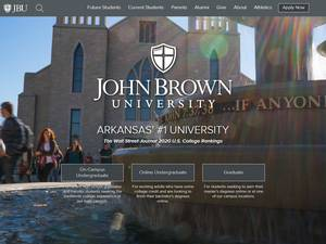 John Brown University's Website Screenshot