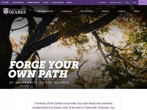 University of the Ozarks's Website Screenshot