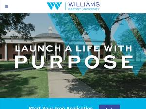 Williams Baptist University's Website Screenshot