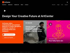 ArtCenter College of Design's Website Screenshot