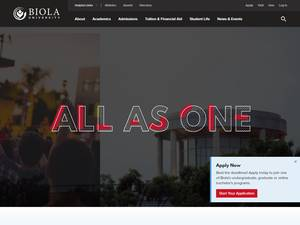 Biola University's Website Screenshot
