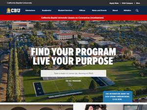 California Baptist University's Website Screenshot