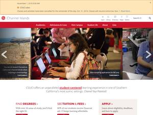 California State University Channel Islands's Website Screenshot