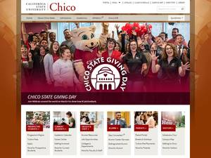 California State University, Chico's Website Screenshot