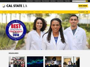 California State University, Los Angeles's Website Screenshot