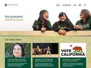 California State University, Sacramento's Website Screenshot
