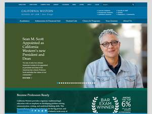 California Western School of Law's Website Screenshot