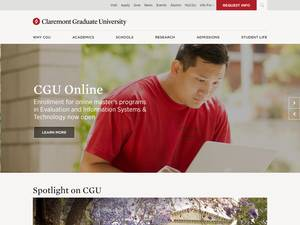 Claremont Graduate University Screenshot